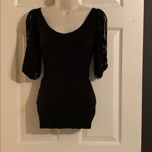 Bisou Bisou Sweaters - Sexy Fringe Low Back Sweater